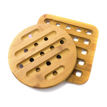 Home Basics 2 Piece Bamboo Round/Square Table Trivet Set - $13.31
