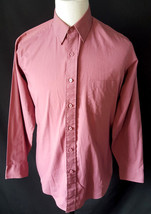 Editions By Van Heusen  Button Up Shirt Size 15.5 32/33 Single Needle Ta... - $8.90