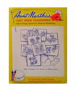 Flowers for Paint or Embroidery Aunt Marthas 3698 Vintage Hot Iron Trans... - $6.99