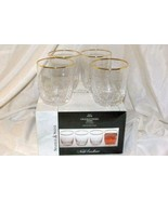 Noble Excellence Sparkle And Shine Set Of 4 Crackle Glass Gold Trim Dofs... - $25.19