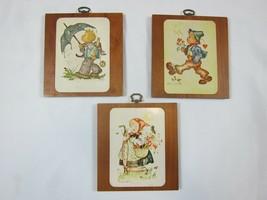 Vintage Hummel Wood Wall Plaques, Set of 3 - $12.99