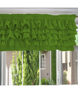 Chiffon LIME GREEN Ruffle Layered Window Valance any size - $29.99+