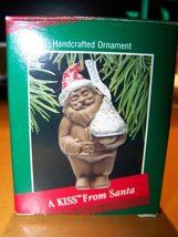 Hallmark Hancrafted Keepsake Ornament- A Kiss From Santa- Hershey Kisses - $3.43
