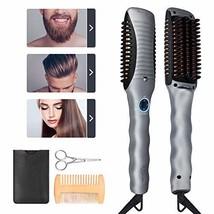 Beard Straightener Brush - Quick Beard Straightening Comb Heated Hair Straighten