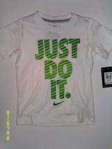 Nike Boys White Short Sleeve T Shirt New Size XS 4 Just Do It - $10.88