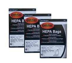 EnviroCare 18 Riccar Simplicty HEPA Canister Replacement Vacuum Bags RHH-6 C19-6 - $31.83