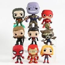 Marvel DC Aquaman Thanos Flash Thor Ant-Man Rocket  Iron Man Funko Toys 9pcs/set - $31.04