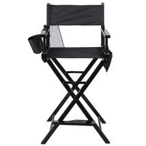 Professional Makeup Artist Directors Chair Wood Light Weight Foldable Bl... - $108.00