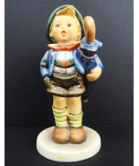 "Hummel Figurine ""HOME FROM MARKET"" #198 TMK6 (H28) Boy with Umbrella - $42.56"