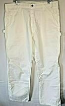 DICKIES WHITE UTILITY PANTS PAINTERS PANTS 40x30 Work Carpenter - $17.77