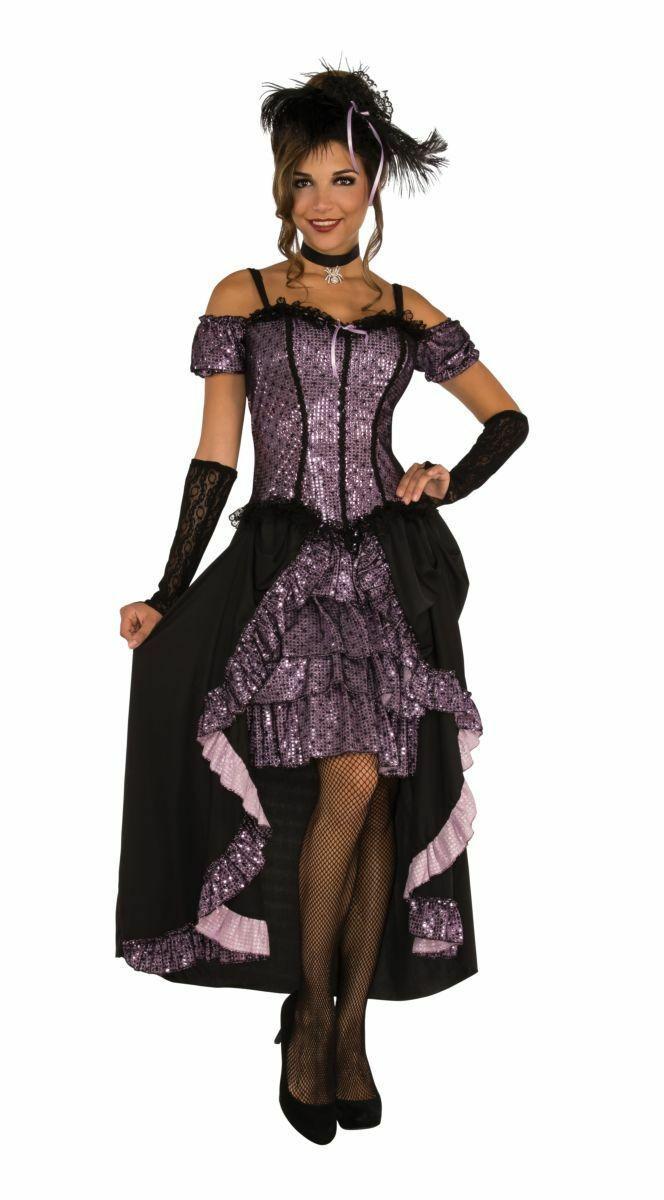 Rubies Danse Hall Maîtresse Fille Saloon Adulte Femmes Halloween Costume 820449