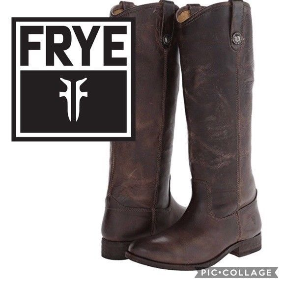 1f64b6df82e4 FRYE Riding Boots Melissa Button Tall Leather Knee High Boot Pull On Slate  7 -  93.47