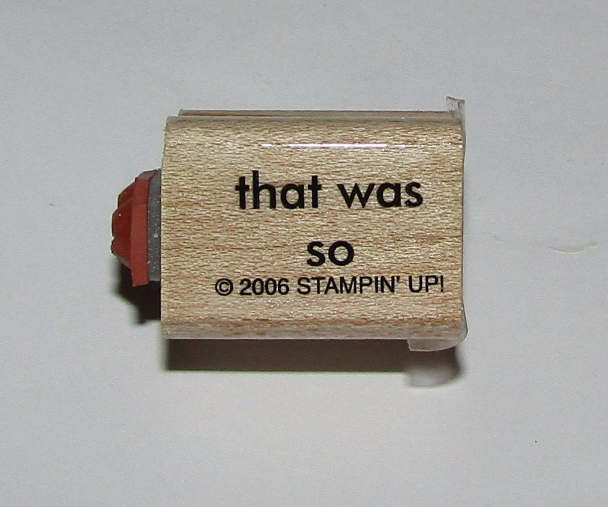 "Primary image for That Was So Rubber Stamp To The Mini Words Stampin Up Two-In-One WM 1"" Long"