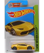 Hot Wheels, 2015 HW Workshop, Lamborghini Huracan LP 610-4 [Yellow] 222/250 - $2.99