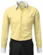 Berlioni Italy Men's White Collar & Cuffs Two Tone Dress Shirt w/ Defect - XL image 2