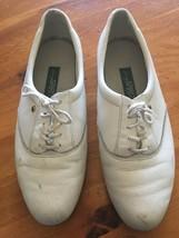Easy Spirit Ladies Medium 8.5 B White Low Heel Lace Up Shoes Women's VINTAGE - $5.93