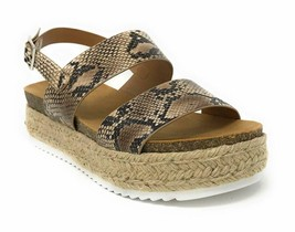 Womens Casual Espadrilles Trim Rubber Sole Flatform Studded Wedge Buckle... - $33.65+