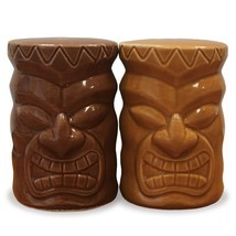Ceramic Salt & Pepper Shaker Set Tiki - $15.45