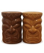 Ceramic Salt & Pepper Shaker Set Tiki - $15.45