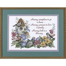 Flowery Verse Stamped Cross Stitch Kit: 14x10 - $16.68