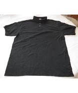 Hanes Stay Clean adult XXL 2xl 50-52 mens Black short sleeve polo shirt NOS - $16.08