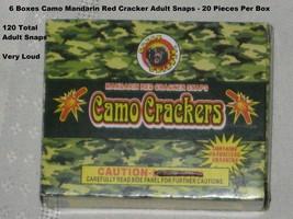 6 Boxes Camo Mandarin Red Cracker Adult Snaps - 20 Snaps Per Box - Very ... - £7.74 GBP