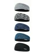 LOT OF 5 Different Designs of Men & Women Headbands Sports Sweatband, 5 ... - $18.11