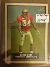 2009 Topps Magic #66 Ernie Sims SP : Florida State Seminoles - $2.52