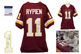 Mark Rypien SIGNED Burgundy Jersey - PSA/DNA - Autographed w/ Photo - $128.69