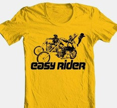 Easy Rider T-shirt retro classic 1970's movie 100% cotton graphic film gold tee image 1