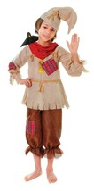 Scarecrow Top Trousers and Hat Book Week Childrens Costume Medium One Size - $18.86