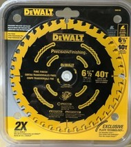 "DEWALT DW9196 6-1/2"" X 40 Tooth Precision Cutting Finishing Carbide Saw ... - $18.81"