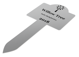 Custom Personalised Stainless Steel Plant Marker Stake Medium Size 200mm x 95mm - $21.98
