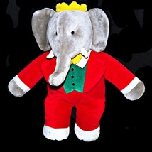 Gund Babar The Elephant 19 inch Tall Plush Stuffed Animal Jean de Brunhoff - $37.39