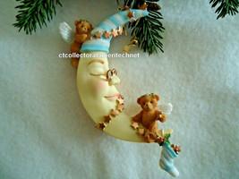 Cherished Teddies Ornament 2005 Dated Angel Bear on Moon #4002835 NIB - $44.50