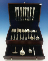 Grand Colonial by Wallace Sterling Silver Flatware Set For 8 Service 43 Pieces - $2,200.00