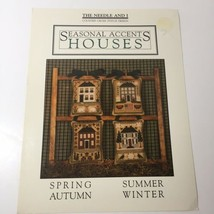 Seasonal Accents Houses Cross Stitch Pattern Book The Needle and I - $9.74