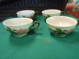 """Great Collectible sET OF 4 FRANCISCAN """"Desert Rose"""" Coffee CUPS - $7.34"""
