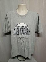 2003 NCAA College World Series Omaha NE Adult Gray XL TShirt - $19.80