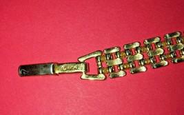 Vintage Avon link bracelet signed gold tone image 2