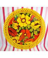 Vintage 1960's MoD Flower Power Design BIODRAK Plastic Serving Tray #461... - $18.00