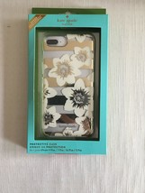 KATE SPADE IPHONE CASE CLEAR WHITE FLOWER GOLD ACCENTS RHINESTONE 8,7,6s... - $25.49