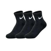 Nike Unisex Everyday Cotton Cushioned Ankle Socks 3-Pair Black SX7667-010 - $19.99