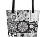 Circle Themed Large Tote Bag