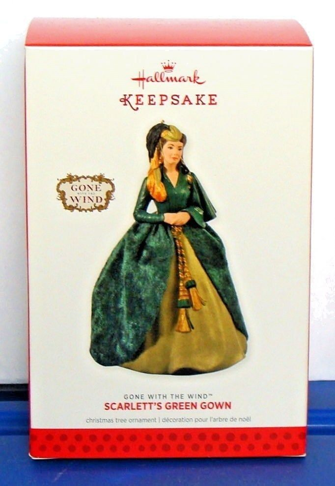 2013 Hallmark Gone With the Wind Christmas Ornament Scarlett's Green Gown
