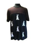B-491120 New Prada Black Purple Rabbit Short Sleeve T-Shirt Size XXXL - $253.05