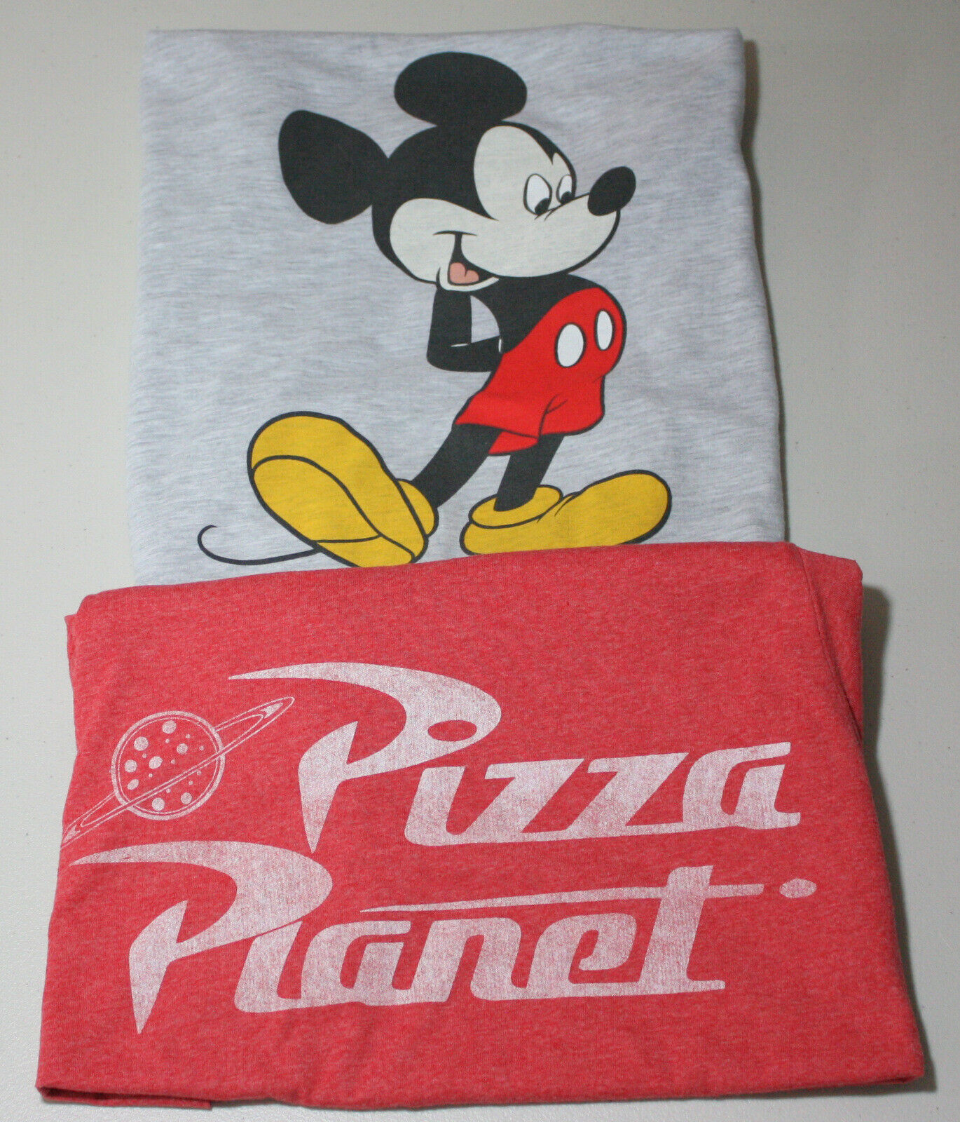 Primary image for Disney Toy Story & Mickey Mouse Girls Small T-Shirts Mickey Mouse/Pizza Planet