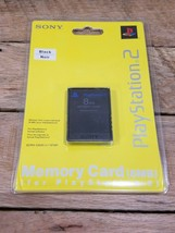 Sony (PlayStation 2 PS2) Memory Card Black 8MB New & Factory Sealed OEM - $33.03 CAD