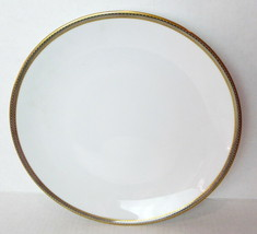 Hutschenreuther White Dinner Plate Gold Trim Germany 1814  - $21.29