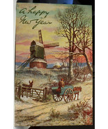 RT107 Tuck's Oilette 9421`In the Depth of Winter Beaded Postcard Not Pos... - $4.21